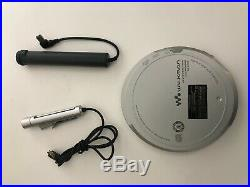 Sony DEJ1000 Silver CD Walkman Portable CD Player VGC (D-EJ1000)