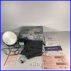 Sony DEJ955 Silver CD Walkman Portable CD Player Silver VGC (D-EJ955/S) Boxed