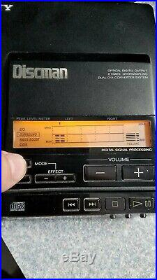 Sony Discman Cd Player D-555 Rare Model
