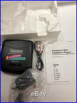 Sony Discman D-141 Vintage 1994 CD Player Mega Bass In Original Box