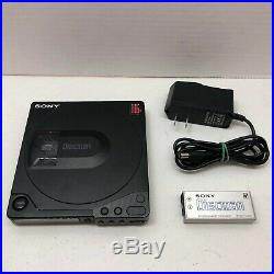 Sony Discman D-150 Black CD Compact Player with CPM-100P Mount Plate US SELLER