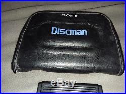 Sony Discman D-88 CD Player Rare. YouTube video of unit working! Read descript