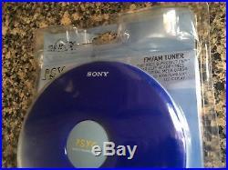 Sony PSYC Walkman CD AM/FM Player Blue Discman With Headphones Model D-FJ040