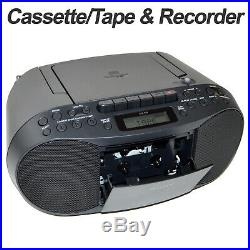Sony Portable CD Player Boombox with AM/FM Radio & Cassette Tape Player +