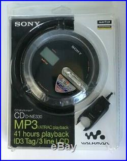 Sony Psyc ATRAC CD Walkman Portable Compact Disc Player Black (D-NE330/BM)