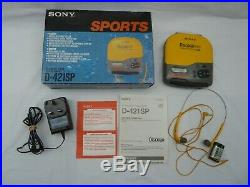 Sony Sports Discman ESP D-421SP CD Compact Player in Box