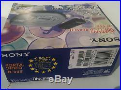 Sony Video CD Discman D-V55 NEW! NEU! Tragbarer CD Player Portable VCD in box