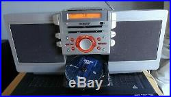 Sony ZS-D55 Silver Portable CD Cassette Player Boombox Blaster NO REMOTE