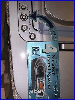 Sony ZS-M30 Portable CD & Mini Disc Player Radio Boombox BNIB