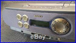 Sony ZS-M30 Portable CD & Mini Disc Player Radio Boombox Grade B