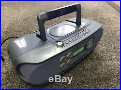 Sony ZS-M30 Portable CD & Mini Disc Player Radio Boombox Rare PLS READ DESCRIP