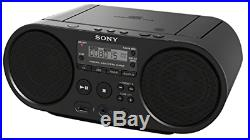 Sony ZS-PS50 Black Portable CD Boombox Player Digital Tuner AM/FM Radio USB pla