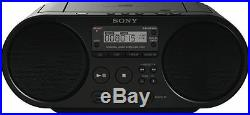 Sony ZSPS50B Portable Boombox CD Player with AM and FM Accessibility Black