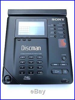 Sony discman D-35 D-350 CD portable player, serviced new motor! With RM-DM1K