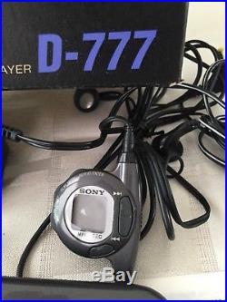 Super Rare Sony D-777 Discman ESP Excellent Condition