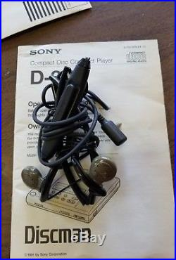 Super Rare and Vintage Sony D303 Discman (Mint Condition) Complete Set with box