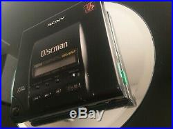 Untested Sony Metal Discman D 303 Personal CD Player 1bit Dac With Optical Out
