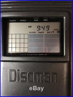 VINTAGE 1991 Sony Discman Walkman D-35/ D350 WITH CASE PERFECT TESTED CD PLAYER