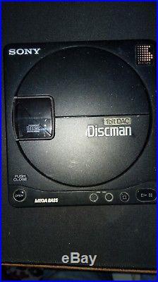VINTAGE SONY DISCMAN PERSONAL D-99 + Sony Walkman DD Mega Bass WM-EX50