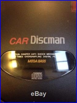 Vintage 1993 Sony Japan Made D-802K Car Discman CD Walkman Player TESTED WORKS