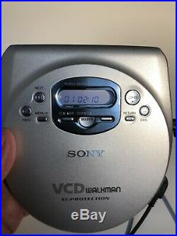 Vintage RARE Sony Video CD Discman D-VJ85 CD Player Portable VCD in box TESTED