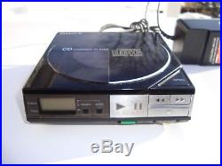 Vintage SONY Discman CD Player D-5 Working + a/c Adapter