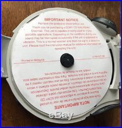 Vintage SONY Sports S2 D-FS601 Portable CD Discman Walkman Weather AM/FM Radio