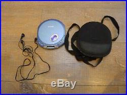 Vintage Sony CD Walkman D-E351 Blue Portable CD Player ESP MAX CD-R/RW