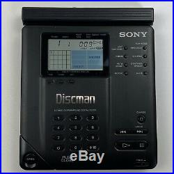 Vintage Sony D-35 Discman Compact CD Disc Player with Hard Case & Battery Adapter
