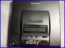 Vintage Sony Discman CD Player D-303 1bit DAC tested working
