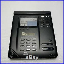 Vintage Sony Discman D-35 CD Compact Disc Player With Accessories MINT WORKS
