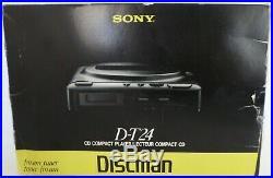 Vintage Sony Discman D-t24 Am/fm CD Player Mega Bass Mdr-a10 Earbuds Nib
