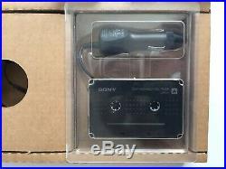 Vintage Sony Discman ESP Portable CD Player D-242CK & Cassette Car Charger Kit