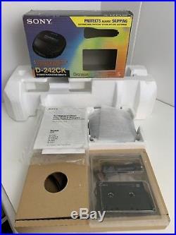 Vintage Sony Discman ESP Portable CD Player D-242CK Walkman Cassette Car Charger