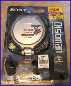 Vintage Sony Diskman Portable CD Player Bundle ESP2 D-EG7 NEW Factory sealed